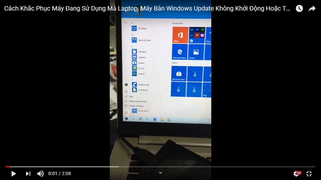 Cách Khắc Phục Máy Đang Sử Dụng Mà Laptop, Máy Bàn Windows Update Không Khởi Động Hoặc Tắt Được.